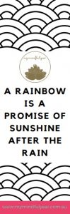 My Mindful Year bookmark rainbow promise black and white