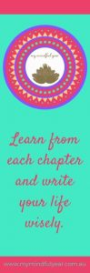 My Mindful Year bookmark write your chapter pink green